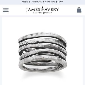 James Avery Stacked Hammered Ring